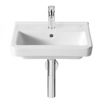 Roca Dama-N Compact Wall Hung Basin, 450mm Wide, 1 Tap Hole