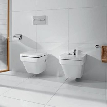 Roca Dama-N Compact Wall Hung Bidet, 500mm Projection, 1 Tap Hole