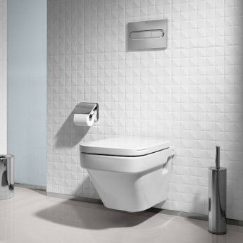 Roca Dama-N Wall Hung Toilet, 570mm Projection, Soft Close Seat