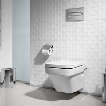 Roca Dama-N Compact Wall Hung Toilet, 500mm Projection, Standard Seat
