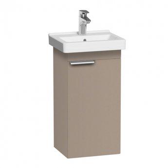 Roca Dama-N Wall Hung 1-Drawer Vanity Unit with Basin 450mm Wide - Matt Cashmere