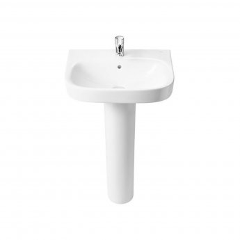 Roca Debba Basin with Full Pedestal Pick Up Pack - White