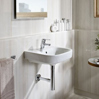 Roca Debba Wall Hung Basin, 600mm Wide, 1 Tap Hole
