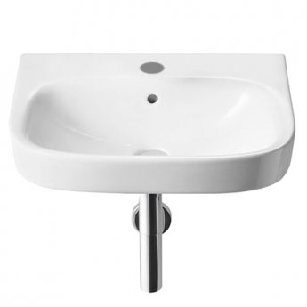 Roca Debba Wall Hung Basin 550mm W - 1 Tap Hole