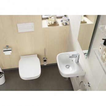 Roca Debba Wall Hung Basin 400mm Wide - 1 Tap Hole