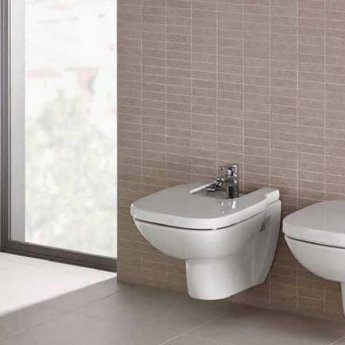 Roca Debba Wall Hung Bidet with Soft Close Seat 540mm Projection - 1 Tap hole