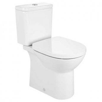 Roca Debba Dual Outlet Close Coupled Toilet with Push Button Cistern - White