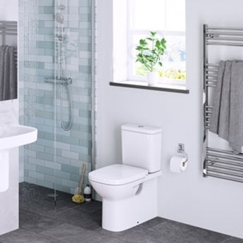 Roca Debba Back to Wall Close Coupled Toilet with Dual Flush Cistern - Standard Seat