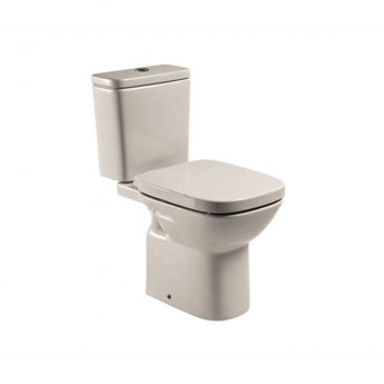 Roca Debba Close Coupled Toilet with Push Button Cistern - Soft Close Seat