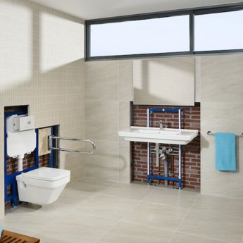Roca Duplo Wall Hung Toilet Frame 890080020 1140mm White