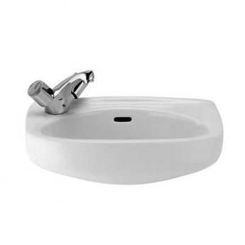 Roca Ibis Wall Hung Cloakroom Basin 440mm W - 1 Tap Hole