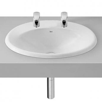 Roca Java Inset Countertop Basin 560mm W - 2 Tap Hole