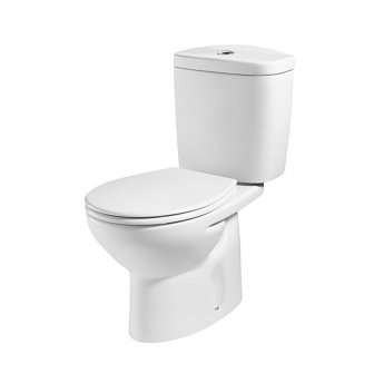 Roca Laura Close Coupled Eco Toilet Push Button Cistern - Soft Close Seat