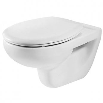 Roca Laura Wall Hung Toilet, 525mm Projection, Soft Close Seat