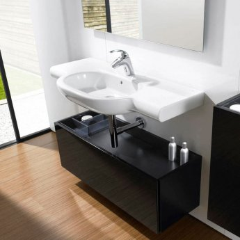 Roca Meridian-N Wall Hung Basin, 700mm Wide, 1 Tap Hole
