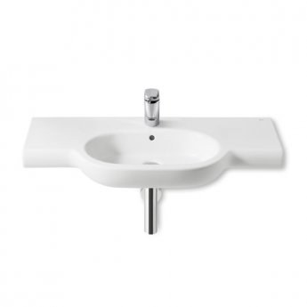 Roca Meridian-N Basin and Full Pedestal, 700mm Wide, 1 Tap Hole