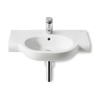 Roca Meridian-N Basin and Semi Pedestal, 700mm Wide, 1 Tap Hole