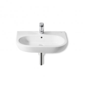 Roca Meridian-N Wall Hung Basin, 650mm Wide, 1 Tap Hole