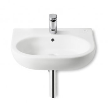 Roca Meridian-N Wall Hung Basin, 550mm Wide, 1 Tap Hole