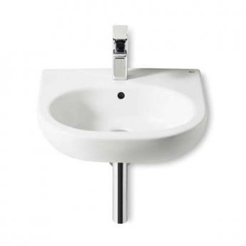 Roca Meridian-N Basin and Semi Pedestal, 500mm Wide, 1 Tap Hole