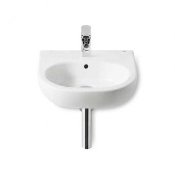 Roca Meridian-N Wall Hung Cloakroom Basin, 450mm Wide, 1 Tap Hole
