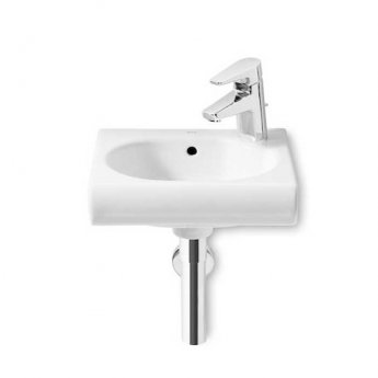 Roca Meridian-N Compact Wall Hung Basin, 350mm Wide, 1 RH Tap Hole