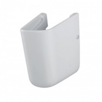 Roca Meridian-N Compact Basin and Semi Pedestal, 600mm Wide, 1 LH Tap Hole