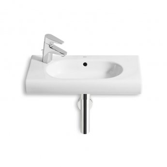 Roca Meridian-N Compact Wall Hung Basin, 600mm Wide, 1 LH Tap Hole