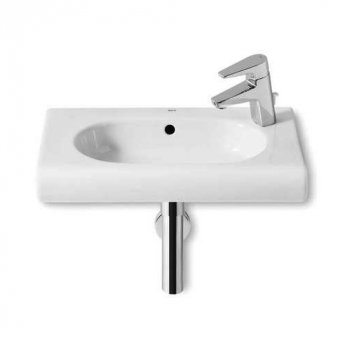 Roca Meridian-N Compact Basin and Semi Pedestal, 550mm Wide, 1 RH Tap Hole