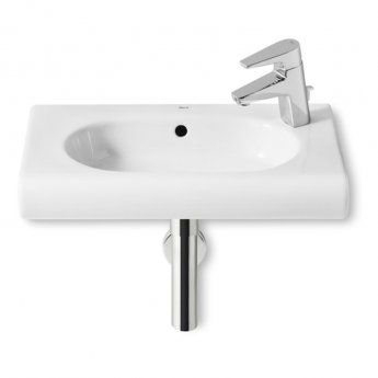 Roca Meridian-N Compact Wall Hung Basin, 550mm Wide, 1 RH Tap Hole