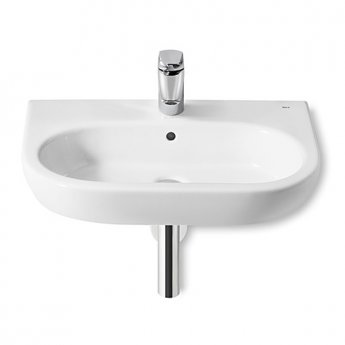 Roca Meridian-N Basin and Full Pedestal, 550mm Wide, 1 Tap Hole