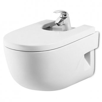 Roca Meridian-N Wall Hung Bidet with Standard Seat 560mm Projection - 1 Tap hole