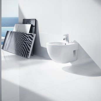 Roca Meridian-N Compact Bidet 480mm Projection - 1 Tap Hole