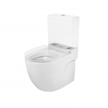 Roca Meridian-N Compact Close Coupled Toilet with Dual Outlet Push Button Cistern, Soft Close Seat