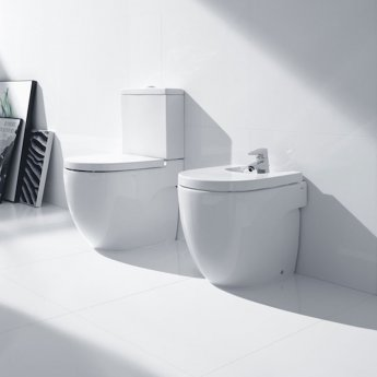 Roca Meridian-N Close Coupled Toilet WC Push Button Cistern - Standard Seat