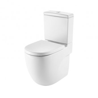 Roca Meridian-N Close Coupled Toilet WC Push Button Cistern - Soft Close Seat