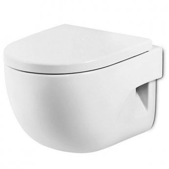 Roca Meridian-N Wall Hung Toilet, 560mm Projection, Soft Close Seat