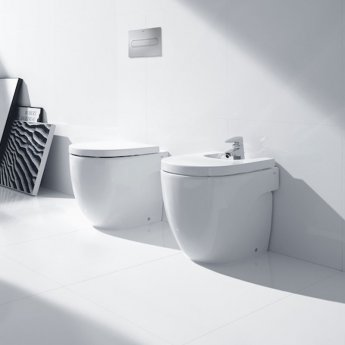 Roca Meridian-N Back to Wall Toilet, 520mm Projection, Soft Close Seat