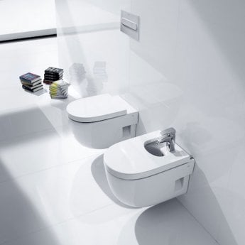 Roca Meridian-N Wall Hung Toilet, 560mm Projection, Standard Seat