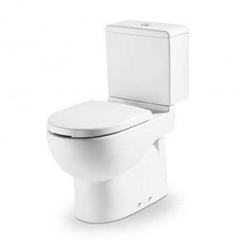 Roca Meridian-N Access Close Coupled Toilet with Push Button Cistern and Seat