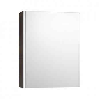 Roca Mini Mirrored Cabinet 450mm Wide - Textured Wenge