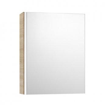 Roca Mini Mirrored Cabinet 450mm Wide - Textured Oak