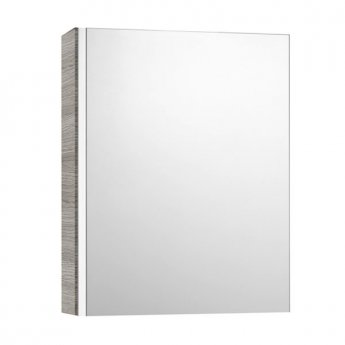 Roca Mini Mirrored Cabinet 450mm Wide - Textured Grey