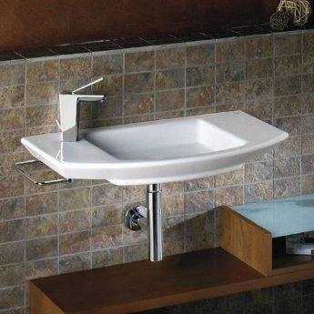 Roca Mohave Wall Hung Basin 750mm Wide - 0 Tap Hole