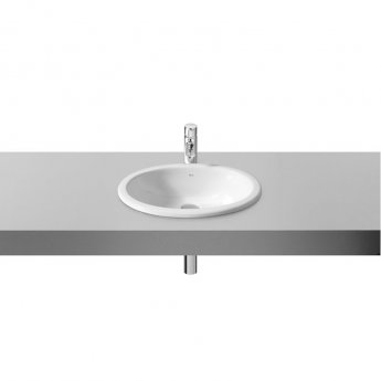 Roca Neo Selene Inset Countertop Or Under Countertop Basin - 0 Tap Hole