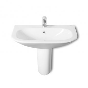 Roca Nexo Basin & Semi Pedestal 600mm Wide 1 Tap Hole