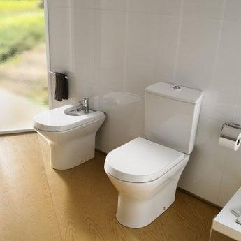 Roca Nexo Closed Coupled Toilet WC Push Button Cistern Soft Close Seat