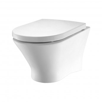 Roca Nexo Rimless Wall Hung Toilet WC 530mm Projection - Standard Seat