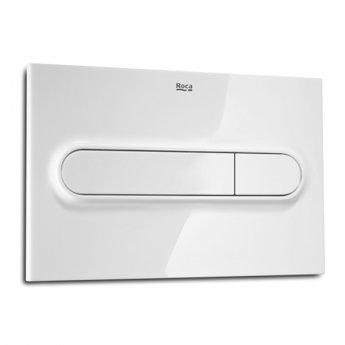 Roca PL1 Dual Toilet Flush Plate - White