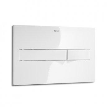 Roca PL2 Dual Toilet Flush Plate - Grey